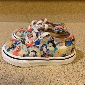 Vans off the wall toddler Disney Princess  Sz 5.